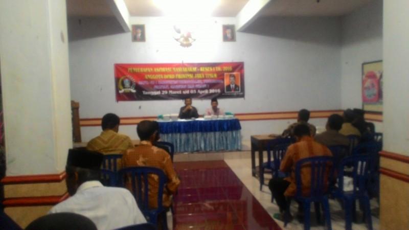 Suasana serap aspirasi anggota DPRD Jatim saat Reses di Balai Desa Bancar, Bungkal, Ponorogo. (Foto : Muh Nurcholis)