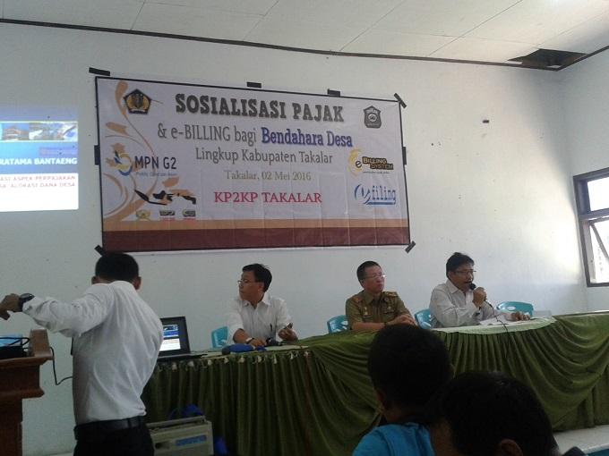 Sosialisasi pajak dan e-Billing untuk bendahara Desa se-Kabupaten Takalar / Foto : Rustam
