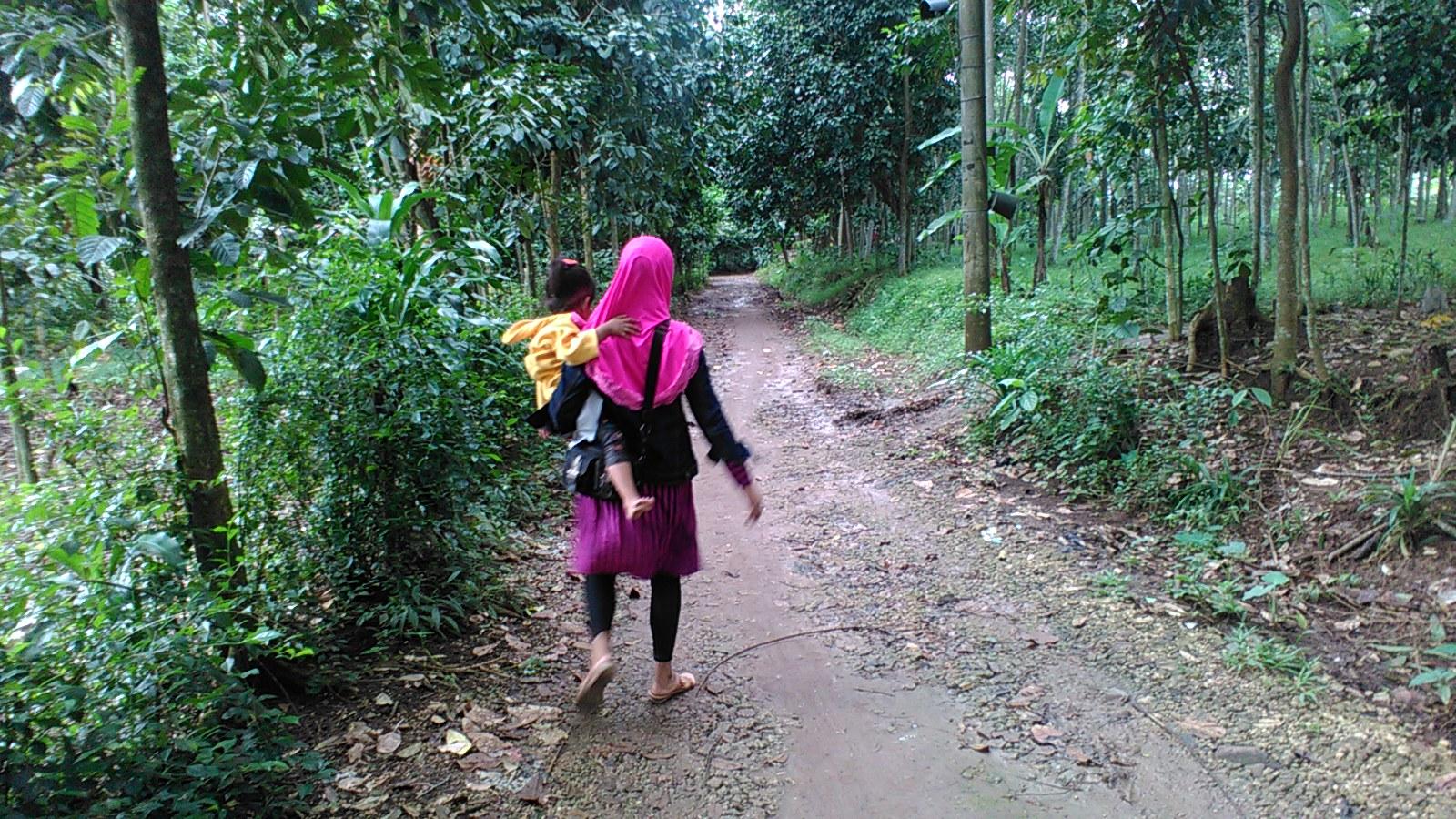 Jalan menuju Desa Rumpin / Foto oleh UG. Dani