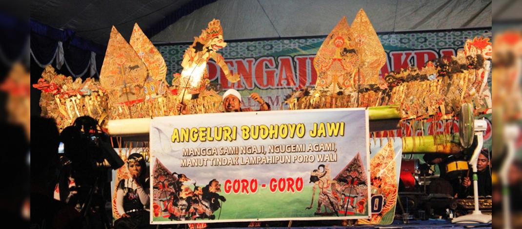 Bersih Desa Kradenan, Jetis, Ponorogo bersama Ki Joko Goro-Goro dari Demak, Jawa Tengah. (Foto : Muh Nurcholis)
