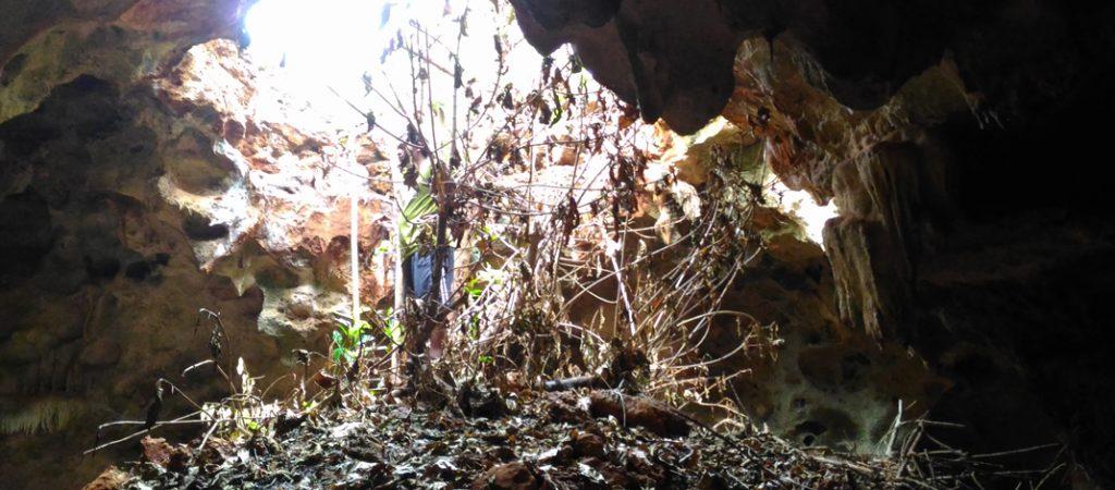 Ujung Gua Celeng, bisa digunakan sebagai pintu keluar tapi harus memanjat / Foto : Firmansyah
