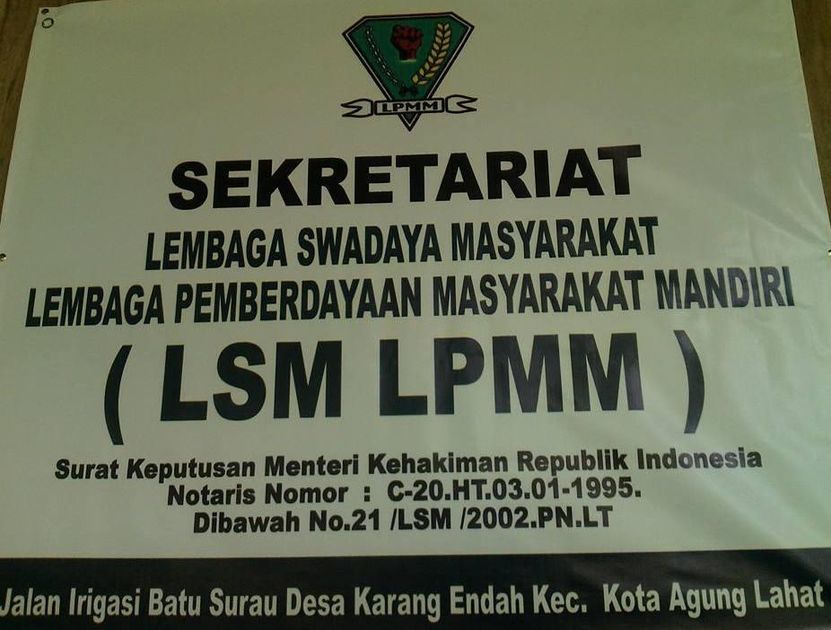 Papan Nama LSM LPMM (Foto : Sunadar For Kabardesa.com)