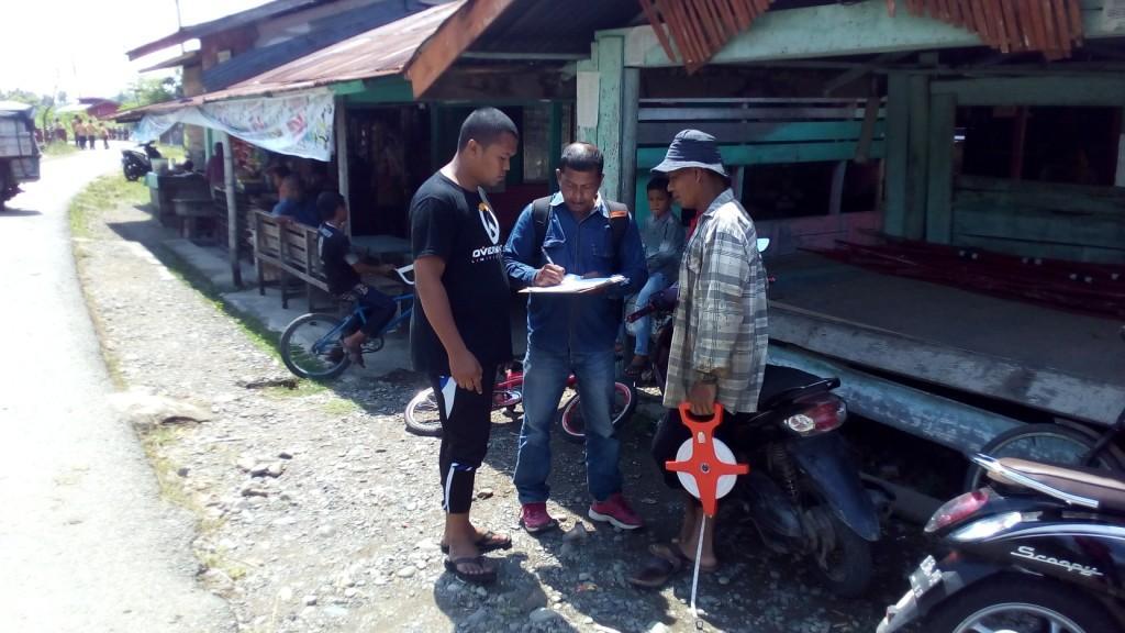 Pedamping Desa Kecamatan Melakukan Surve di Cot Baroh