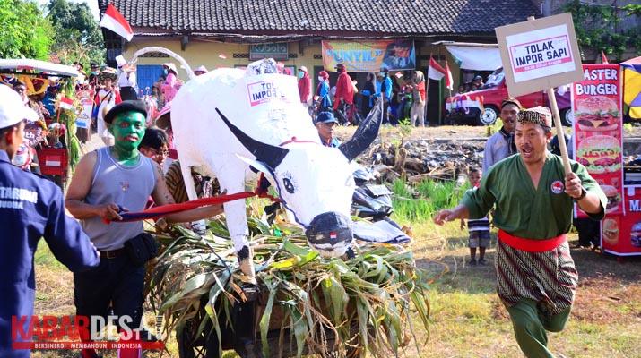 Karnaval Desa Sabranglor - Tolak Import Sapi